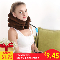Ifory Inflatable Cervical Traction Device Neck Massager Relieve Fatigue Back Shoulder Pain Massage Relaxation Health Care Tool