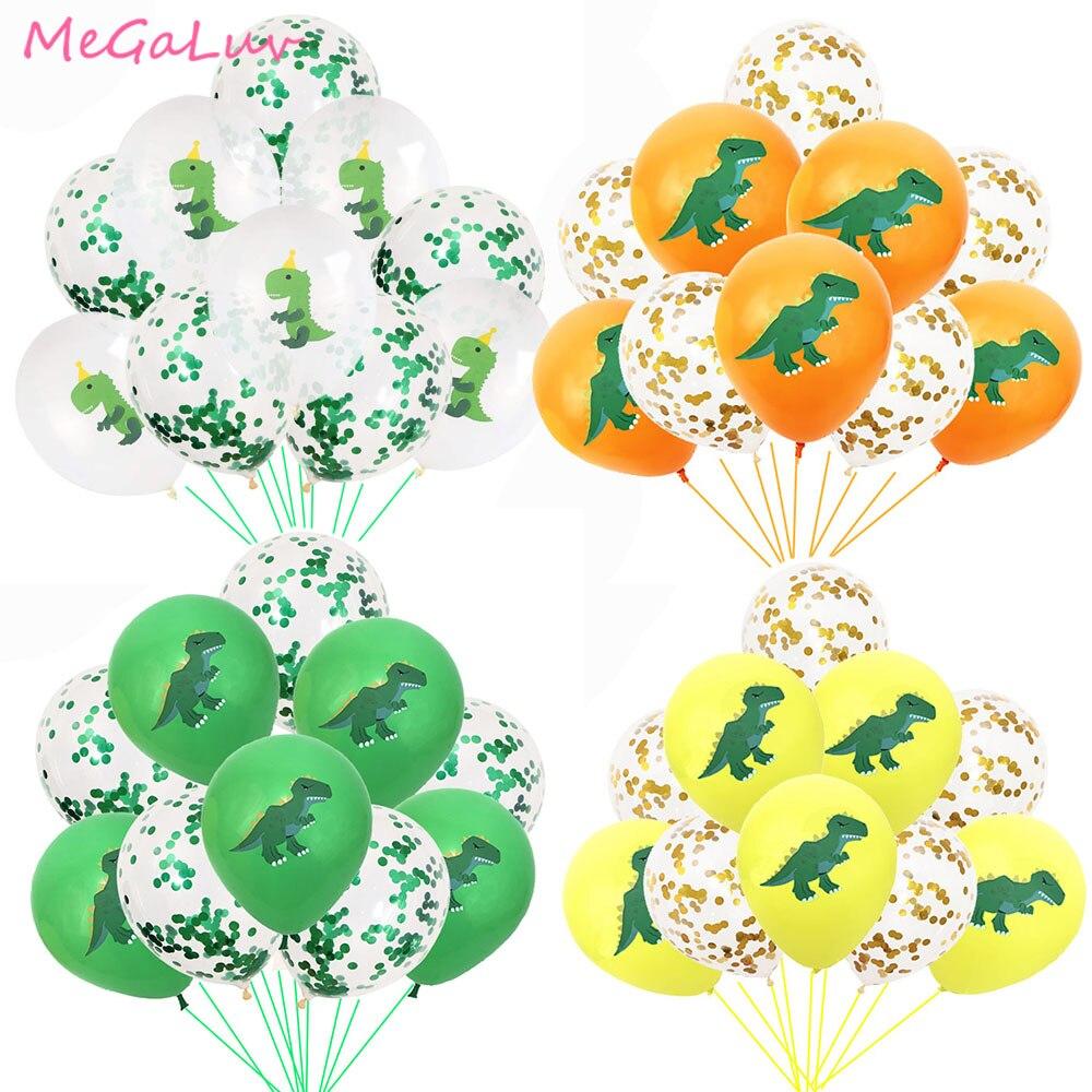 10 шт., латексные воздушные шары в виде динозавров
