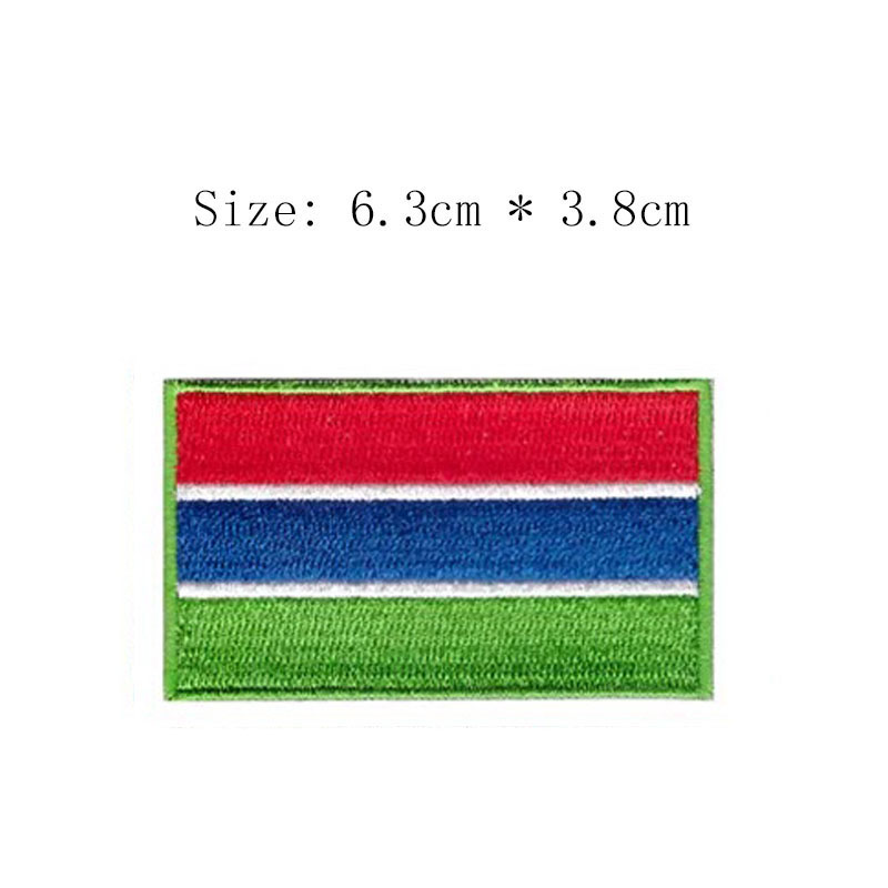 Apparel Sewing & Fabric Responsible Free Shipping Gambia Embroidery Flag Patch Banjul City Emblem For Motorcycle Jacket Coat Wholesale Iron On Sew On Left Chest