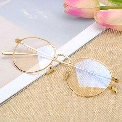 Retro Runde Rahmen Brillen Rezept Brillen für Frauen Männer Mode OV1174 Titan Brille Rahmen Männer Kreis Gläser