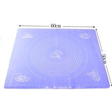 60*50 cm extra große größe lebensmittelqualität silikon matte pad, befestigen skala teig kneten matte, gebäckwerkzeug langlebige matte silikon