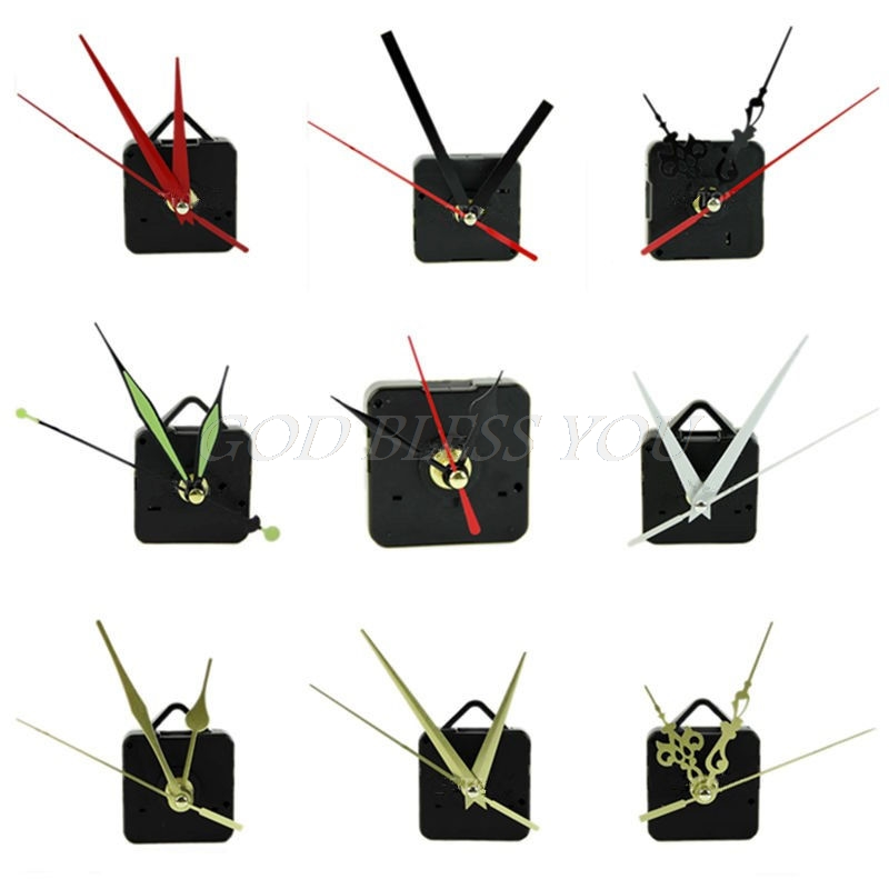 Quartz Clock Movement Mechanism Hands Wall Repair Tool Parts Silent Kit Set DIY Wall Clocks