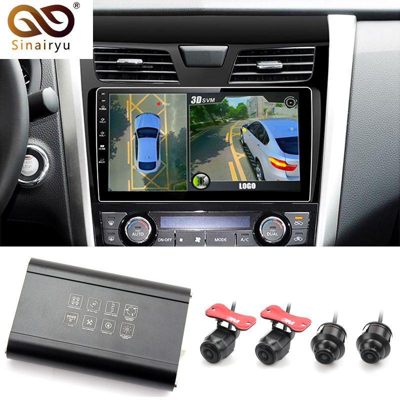Auto DVR Camera HD 3D 360 Surround View System driving support Bird View Panorama System 4 Car camera 1080P DVR G Sensor