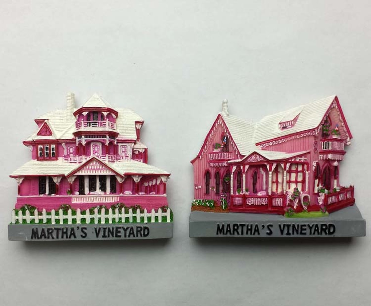 Marthaa Wineyard Massachusetts Uas 3d Resin Villa Fridge Magnets - Decor-uas