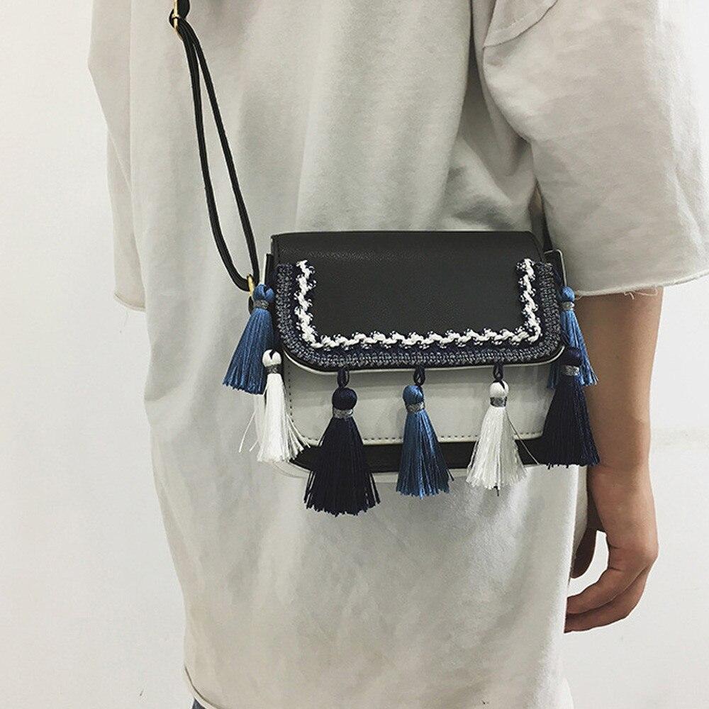 2019 Mädchen Frauen Retro Weiblichen Quaste Tasche Crossbody Schulter Tasche Geldbörse Handtasche Mode Lässig Brieftasche Bolsas Feminina