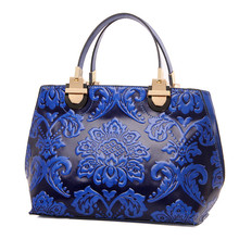 New Design Chinese Element Women Fashion Vintage Handbag Ladies High Quality Luxury Casual Tote Crossbody Cowhide classical Bags