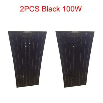Zonnepaneel Zonnecel 18 v 200 w Flexibele Zonnepaneel 2 stks 100 w semi china goedkope auto batterij charger home systeem kit