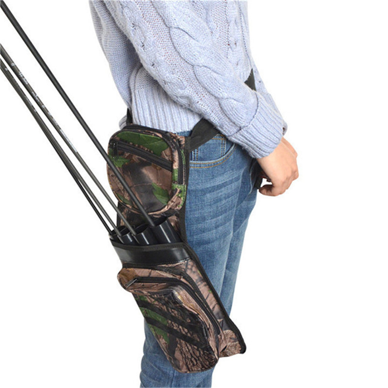 1pc 4Tubes Arrow Quiver Waist Hip Belt Arrow Storage Bag Shooting Training Holder Quiver Arrows Outdoor Bow Hunting Accessories in Darts from Sports Entertainment