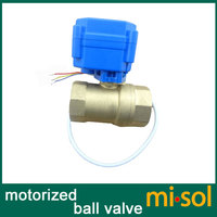 Free Shipping!!! misol / 1pcs of Motorized ball valve brass, G3/4 DN20 BSP reduce port, 2 way, CR02, electrical valve