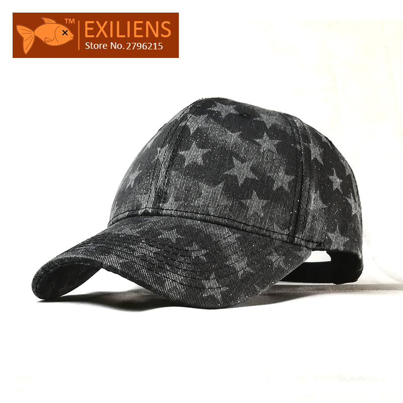 [EXILIENS] Baseball Cap New Fashion Brand Cotton Solid Top Star Print Snapback Caps Strapback Bboy Hip-hop Hat For Men Women Hot mnkncl new fashion style neymar cap brasil baseball cap hip hop cap snapback adjustable hat hip hop hats men women caps