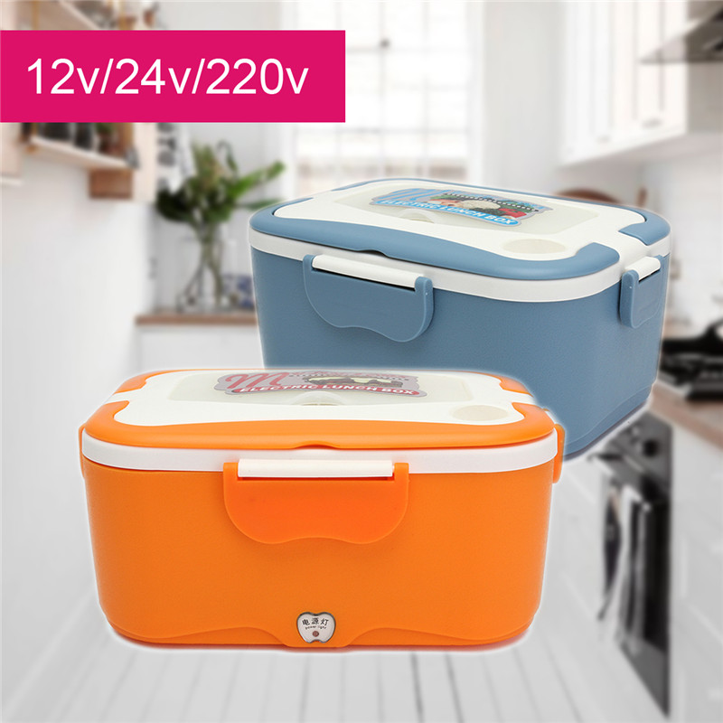 цена на KROAK 12/24V Portable Car Truck Electric Heating Lunch Box Food-Grade Warm Heater Storage Container Food Container Dinnerware