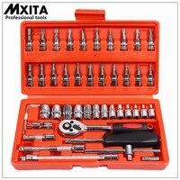 46pcs 1 4 Inch Socket Set Car Repair Tool Ratchet Torque Wrench Combo Tools Kit