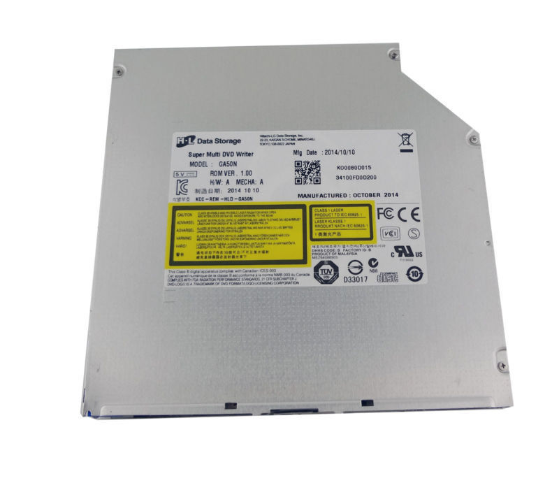 12.7mm Slot Load CD DVD DVDRW Optical Drive GA50N For De ll Alienware Notebook 15 17 18 M15x M17x M18x Series 2017 advanced cd uv coating coater dvd disc lamination machine with top quality maquina de laminacion de dvd