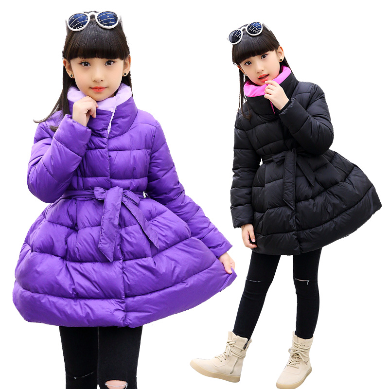 2017 Jackets For Girls Clothes Children Clothing Girls Winter Coat Fashion Thick Cotton Jacket Parka Kids clothes 12 13 years boys fleece jackets solid coat kid clothes winter coats 2017 fashion children clothing