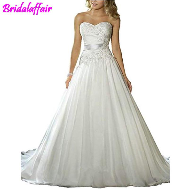 Women 39 s Wedding Dresses A Line Court Train Lace Beaded Wedding Dress Plus Size Wedding Dress Bridal Dresses robe de mariee in Wedding Dresses from Weddings amp Events