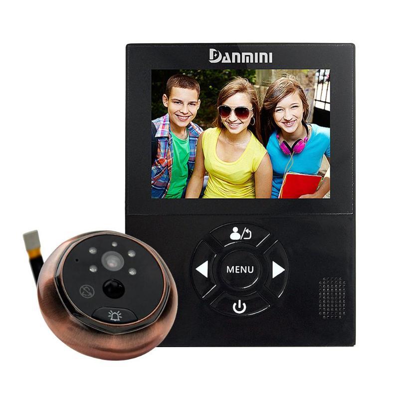3.0 Polegada TFT LCD Tela Colorida Câmera Digital Espectador Olho Mágico Da Porta Campainha sem fio de Vídeo-Gravador De Vídeo olho de visão Noturna