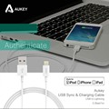 Aukey For Apple MFi Certified For iPhone 5 5C  5S 6 6 Plus ipad Air  iPod For Lightning 8 pin USB Data Charger Cable Line