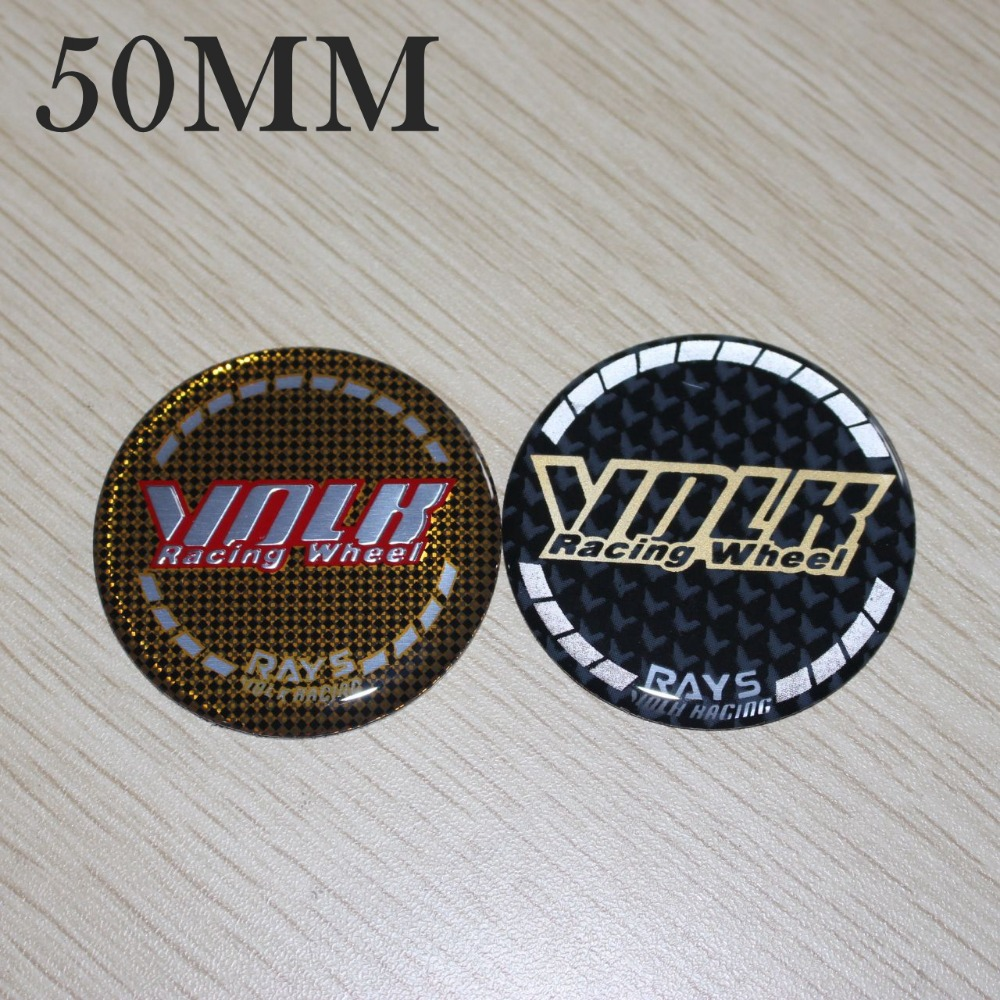 50MM RAYS VOLK Center Cap Stickers Volk Racing Cap Sticker Emblems Wheels Cover Hubcaps WORK ADVAN Sticker Center Caps 4PCS