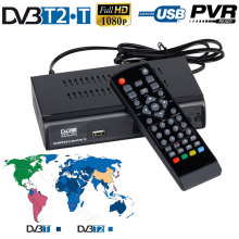VHF UHF FTA DVB-T2 DVB-T Digital Terrestrial Broadcasting Convertor HD TV Tuner Set Top Box Receiver USB PVR Recorder Playback