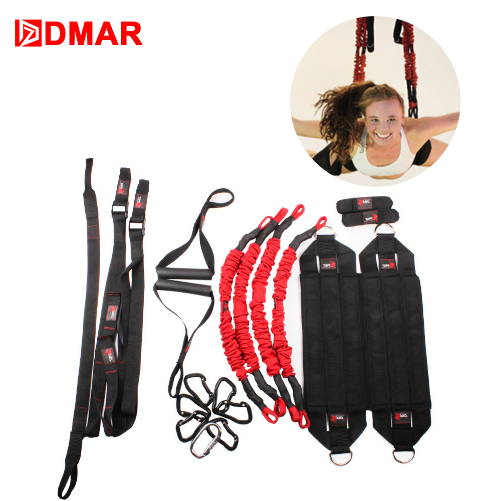 DMAR 4D Pro Bungee Yoga Flying Suspension Rope 300kg Aerial Anti-gravity Resistance Set Workout Fitness Home Gym EquipmentDMAR 4D Pro Bungee Yoga Flying Suspension Rope 300kg Aerial Anti-gravity Resistance Set Workout Fitness Home Gym Equipment