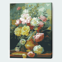 Flower Frameless Picture Painting By Numbers Wall Art DIY Canvas Oil Paintng Home Decor For Living