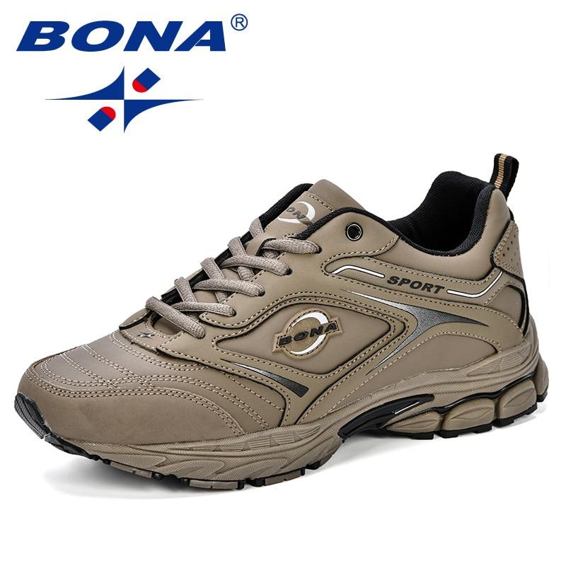 BONA кроссовки мужские кроссовки черные спортивные туфли для мужские кроссовки дизайнерские мужские Взрослые спортивные туфли уличные бего...