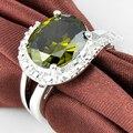 Promoción joyería luckyshine único fuego peridot oval creado plata plateó los anillos de bodas rusia ee.uu. vacaciones australia anillos