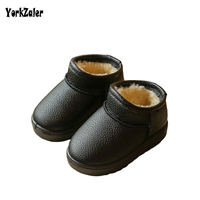 Yorkzaler Winter Kids Snow Boots 2018 New Fashion Waterproof Leather Boots For Girl Boy Casual Children