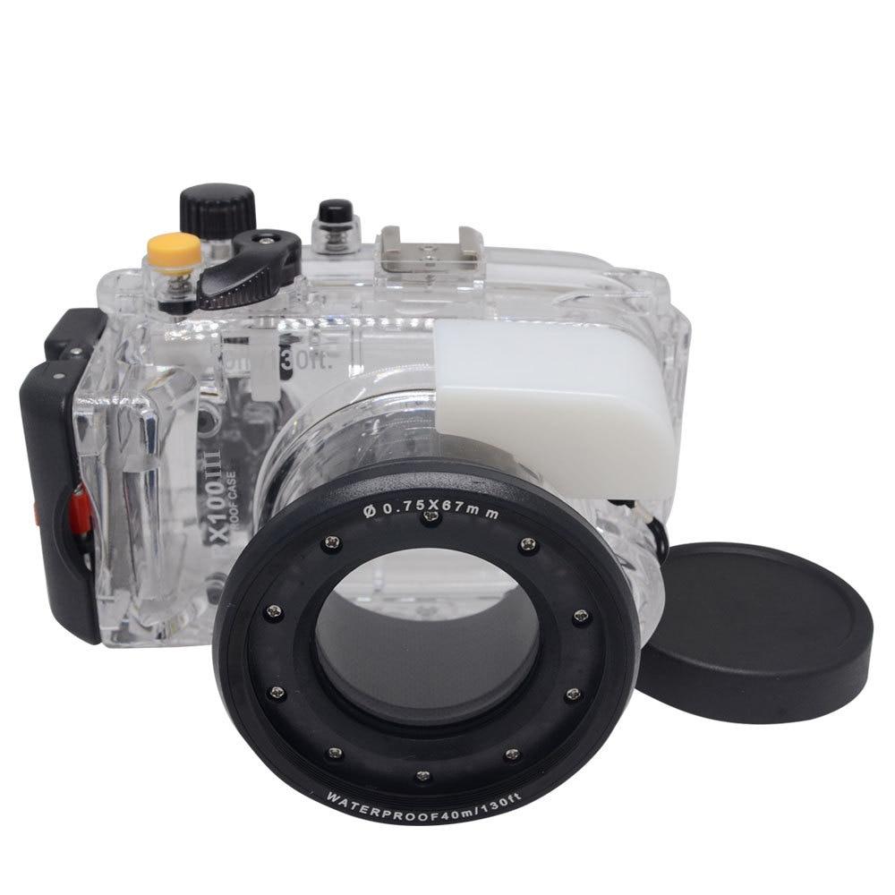 Mcoplus 40M 130ft Underwater Waterproof Housing Diving Case  for Sony DSC-RX100 III RX100 Mark III