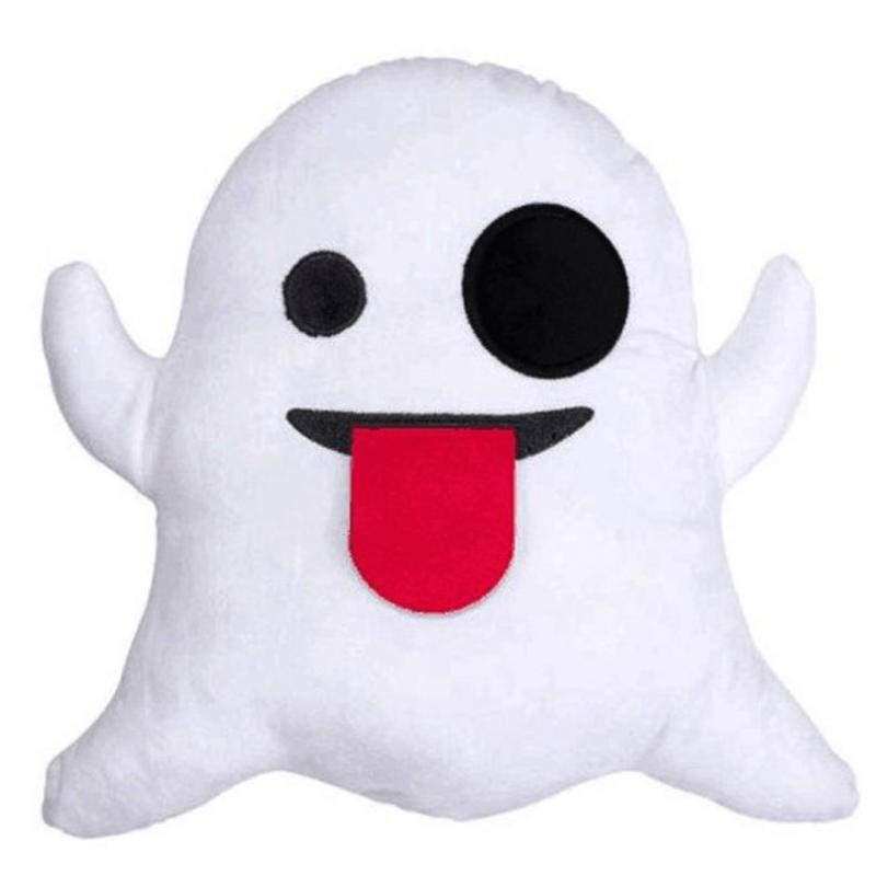 New Soft Plsuh Cute Ghost Emoji Pillow Cushion Home Sofa Decorative Pillow Almofadas Cartoon Smiley Face Pillow