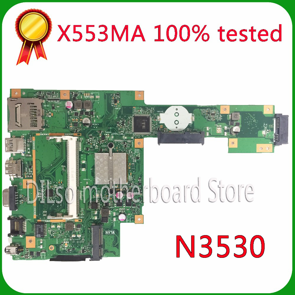 KEFU X553MA For ASUS X553MA x503m f553ma f553m Laptop motherboard X553MA mainboard REV2.0 N3530 work 100% все цены