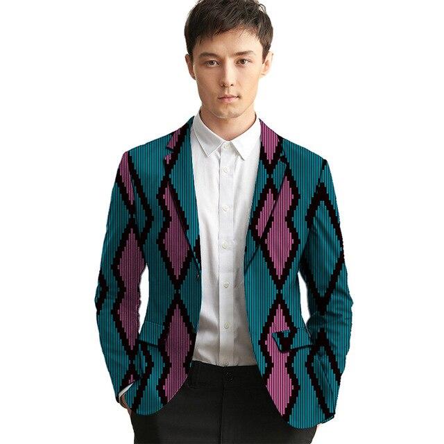 19d8ba73c9c7e Custom dashiki print Men blazers formal suit jacket for African party/wedding  man's Ankara outfit fashion leisure blazer coat
