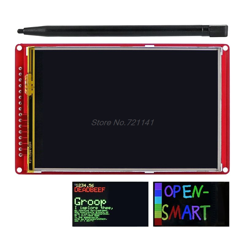 3.5 pouces 480x320 TFT panneau d'extension Module LCD écran tactile 480x320 avec stylo tactile pour UNO R3 Nano Mega2560
