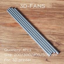 4 szt. OD 8mm x 200/300/400/500mm tuleja cylindrowa wałek linowy szynowy oś optyczna do drukarki 3D i CNC