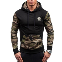 Brand 2018 Hoodie Splicing Camouflage Hoodies Men Fashion Tracksuit Male Sweatshirt Hoody Mens Purpose Tour Hoodie