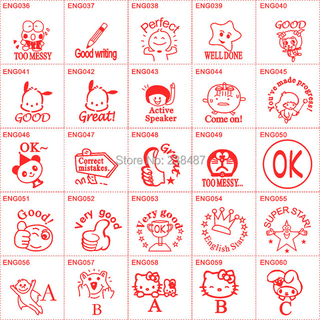 FREE SHIPPING Teacher Stamp Seal Review English HA 23