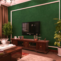 American Country Vintage Minimalist Solid Color Wallpaper PVC Wallpaper For Living Room Bedroom Sofa Wall Covering