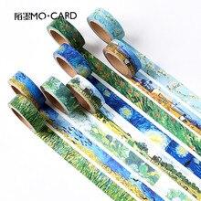 1 pz Nastri di Washi DIY Van Gogh Pittura nastro di carta Adesivo Decorativo Nastri Adesivi Scrapbooking Stickers Formato 15mm * 7 m(China (Mainland))
