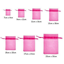 100PCS 7x9 9x12 10x15 11x16 13x18 15x20 17x23 CM Organza Bags Jewelry Packaging Bags Scented Sachet Gift Pouches 7Z
