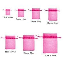 Bolsas de Organza con aroma para embalaje de joyería, bolsitas de regalo, 7x9, 9x12, 10x15, 11x16, 13x18, 15x20, 17x23 CM, 7Z, 100 Uds.