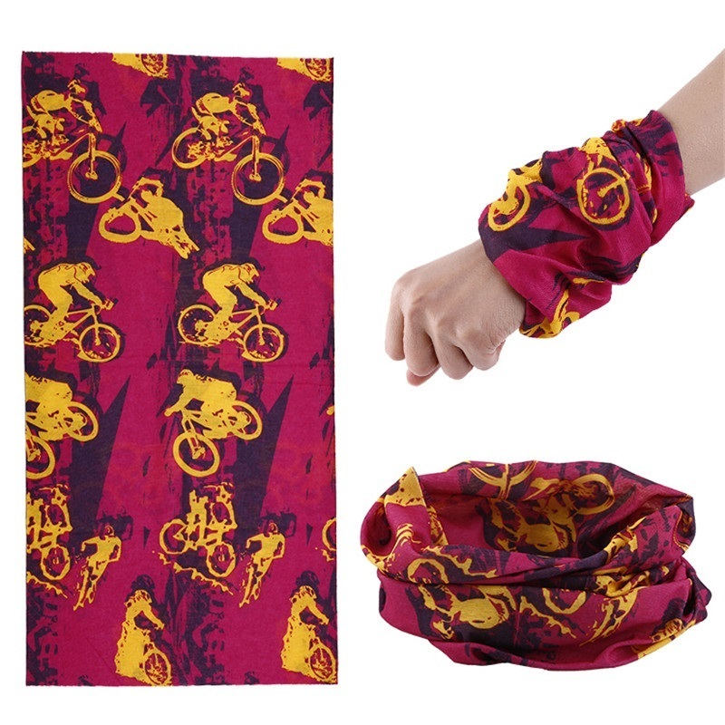 New Microfiber Outdoor Bandana Tubular Scarf 25*48 Red Bandana Coif Multifunctional Seamless Wear Headband kerchief Hood 91