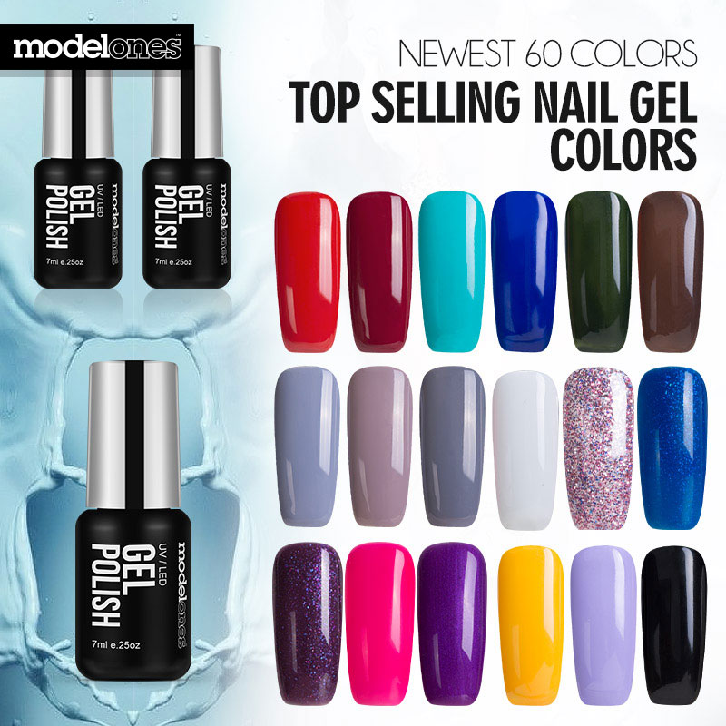 No Lamp Gel Nail Polish: Modelones French Manicure Style Nail Gel Polish Classic