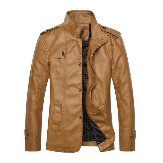 2015 New Fashion Good Quality Jaqueta De Motoqueiro Soft Toughing With Thin Velet Lining Motorcycle Leather Jacket