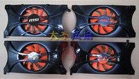 Original MSI Graphics Card Fan Palit GTX560ti GTX550ti GTX460 GTS450 Rdd8015b1 Nf0815b1hk R Pla08015b12hh 4p 1PCS