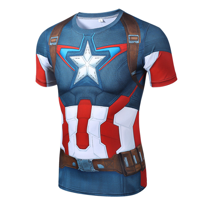 KYKU Captain America T Shirt Men Superman Tshirt 3D Tshirt High Quality Film Mens Clothing Hipster Short Sleeved 2018 Summer Top