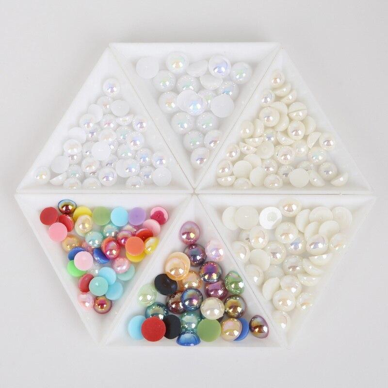 Лидер продаж ручной работы ABS Жемчуг Flatback Бисер для швейных изделий Кристалл Бусины для свадьбы одежда сумка Дизайн ногтей украшения DIY 150-3000 шт.