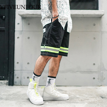 VFIVEUNFOUR 2019 New arrivals 3M Reflective Stripe fashion shorts men hip hop clothing Summer casual Trousers