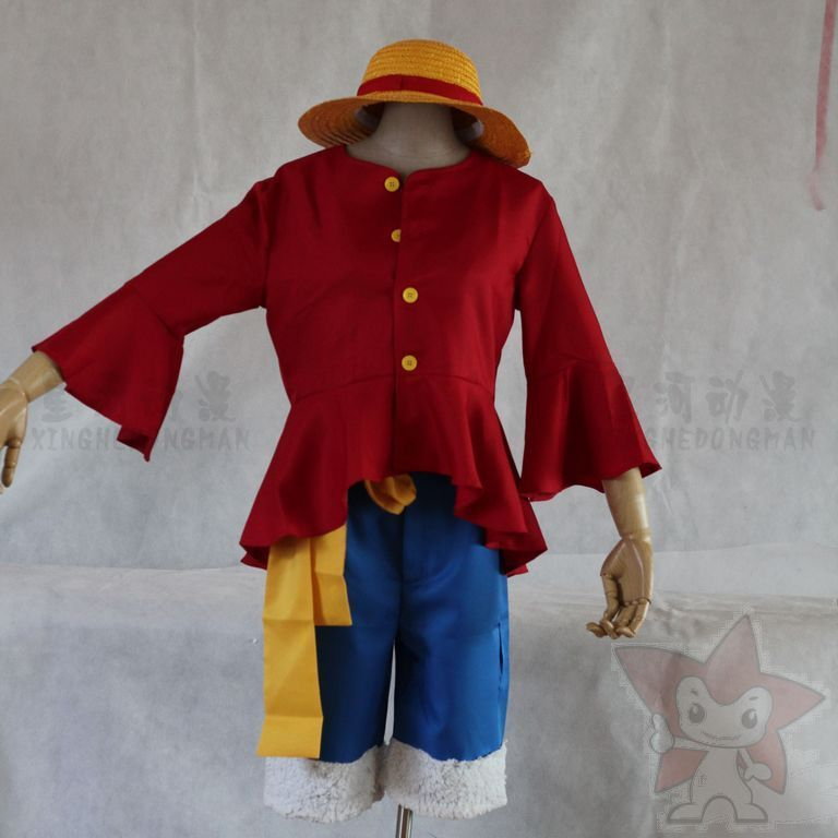 ONTE Cos Fashion Anime One Piece Clothes Monkey D luffy ...