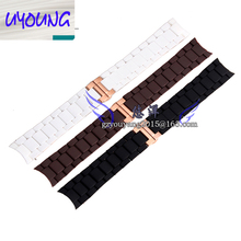 UYOUNG Watchband AR Accessories Watch Band for AR5920 AR5890 AR5905 AR5919 Stainless Steel Rubber Watch Strap Man+Free Tool