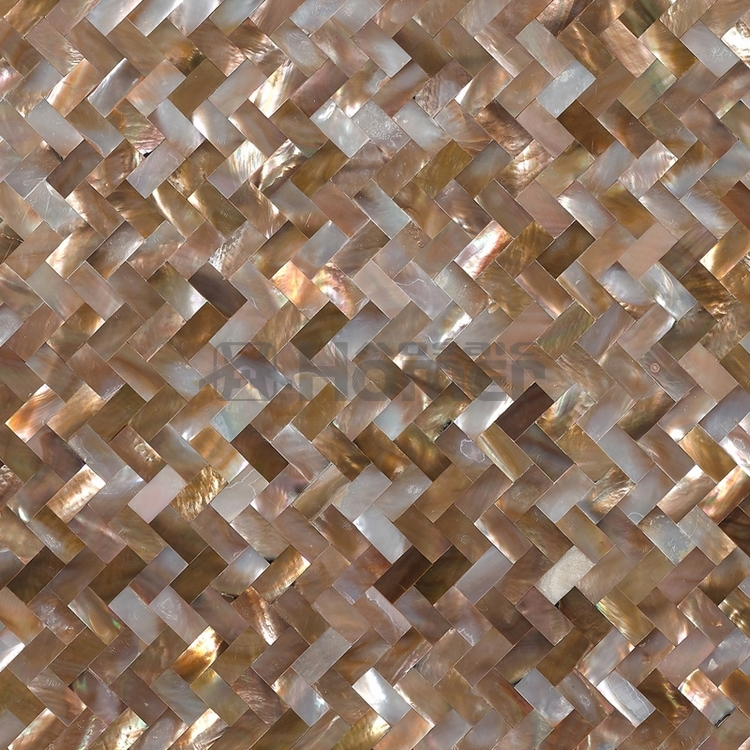 Free shipping penguin shell seamless mosaic tiles mesh for Installing glass tile with mesh back